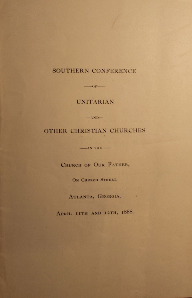 Order of Service Southern Conference Meeting Apr 11- 12, 1888 (page 1)