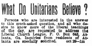 The Atlanta Constitution (Atlanta, Georgia) · Oct 30 to Nov 28, 1892, 1892 Campaign of the Liberal Church League