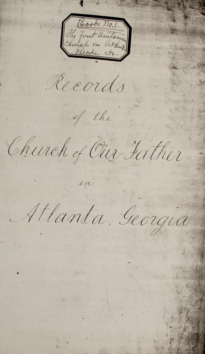 cover unitarian meeting minute book march 1883 to jan 1909