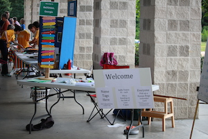 ReUUnion 2014 Welcome Signage at Welcome Table