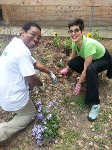 Rev. Terry Planting with Darryl Haddock