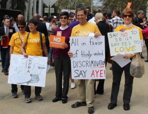 Georgia Unitarian Universalists Protest SB 129