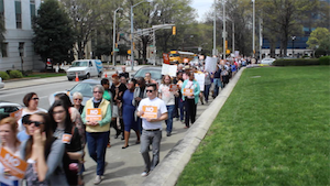 Hundreds Protest Georgia SB 129