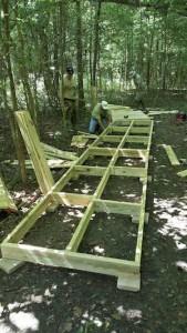 Men Working On Walkway Frame
